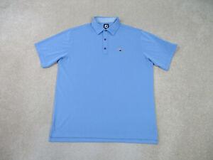 Footjoy Polo Shirt Adult Large Blue Lightweight Golfer Golfing Casual Mens B82 *