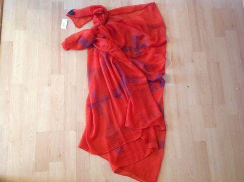 """Donna sarong beachwear-Costumi da bagno-Scialle Rosso Floreale Cross 71/"""" L 41/"""" W XL"""