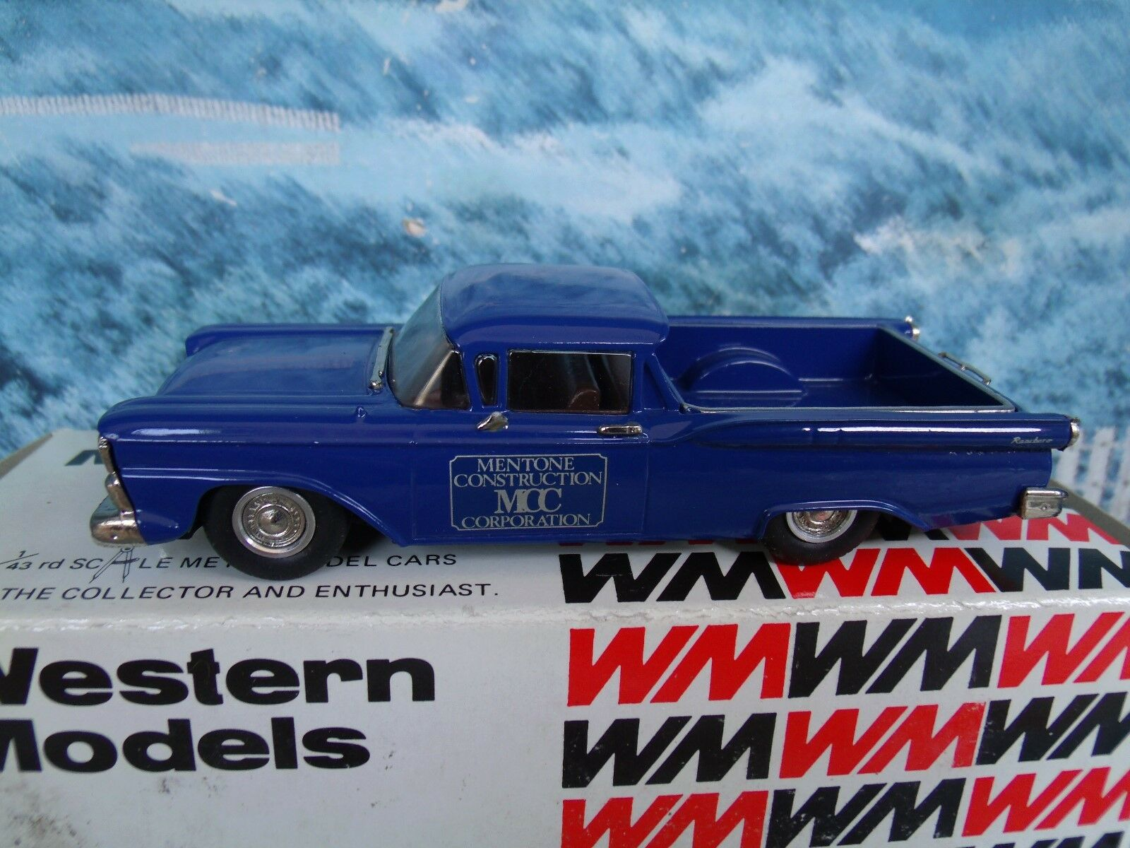 1/43 Western models  (England) 1959 FORD ranchero   white metal WMS53
