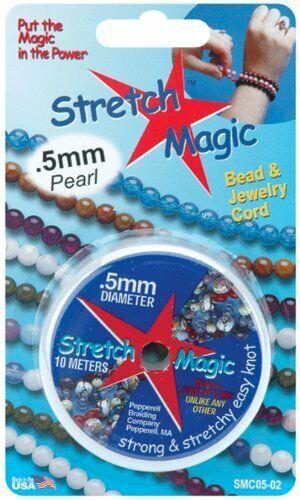 Cable Mágico Abalorios Stretch-Perla 0.5mm