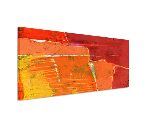 Leinwandbild Panorama rot orange gelb Paul Sinus Abstrakt/_695/_150x50cm