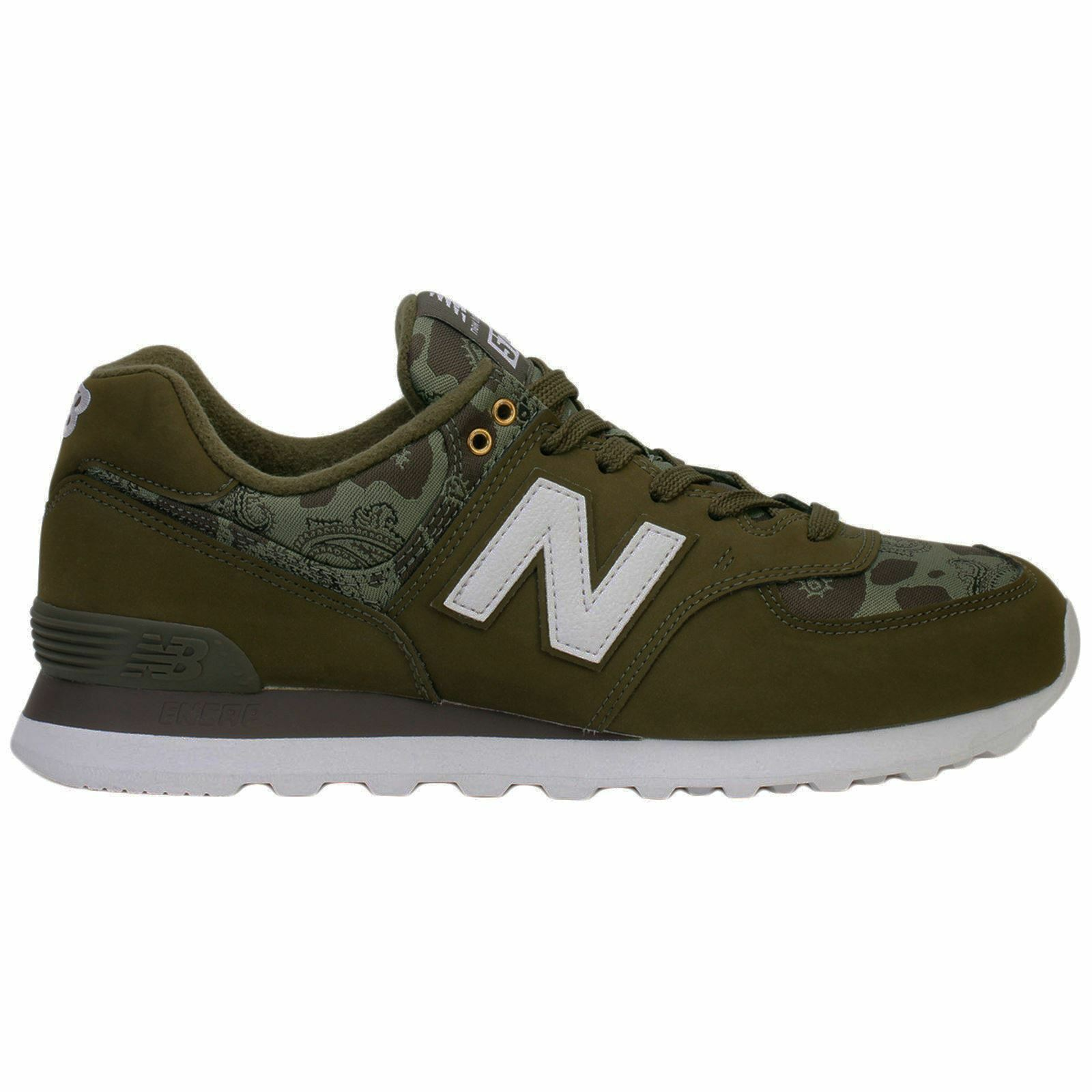 New Balance ML574 Nubuck Textile Classic Low-Top Running Sneakers Mens Trainers