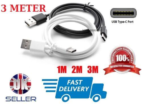 2018 USB cable de carga de tipo C Cargador USB de 3 metros de largo Nuevo Samsung Galaxy A9