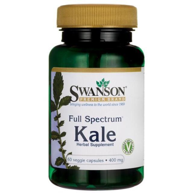 Swanson Full Spectrum Kale 400mg, 60 Vegetarian Capsules, Vitamin C, A, and K