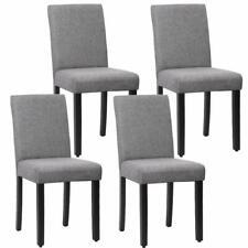 New Set of 4 Grey Elegant Design Modern Fabric Upholstered Dining Chairs B164