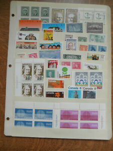 stock page of mint never-hinged stamps of Canada