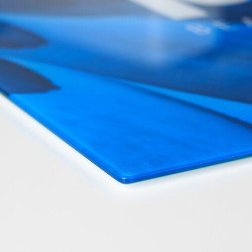 60x52 cm FORNELLO lastre di copertura in vetro PARASPRUZZI ONDA VERDE astratto