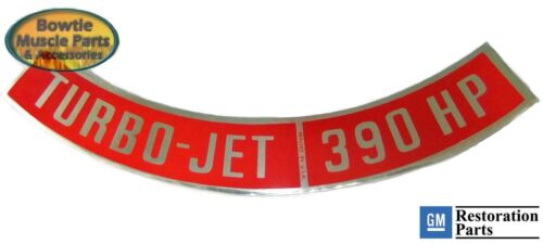 66-69 IMPALA CORVETTE CAPRICE FULLSIZE BEL AIR 390HP TURBO-JET ENGINE DECAL