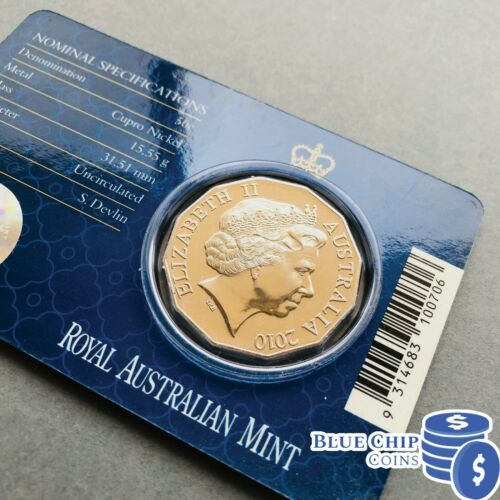 2010 RAM UNC 50c ROYAL ENGAGEMENT COIN ON CARD
