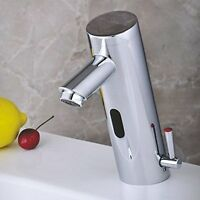 Home Deck Mount Touch Free Automatic Sensor Sink Faucet With Temperature Control on sale