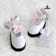 1/6 BJD Shoes Yosd Lolita White boots Shoes Dollfie Luts Dollmore AOD DIM DOD DZ