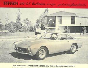 Vintage-amp-Rare-1963-Ferrari-250-GT-Berlinetta-Ad-Better-Than-Original-Print
