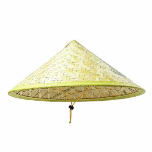 Chinese Oriental Farmer Cone Garden Fishing Bamboo Woven Fishing Cap Hat
