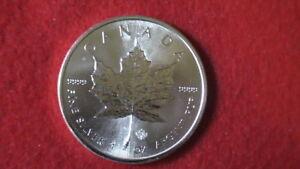 CANADA $5 Dollars 2014 (MAPLE LEAF) SILVER 1oz coin (.9999) Choice BU