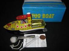Pop Pop Putt Putt Live Steam Engine Tug Boat Tin Toy LT