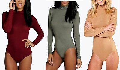 New Ladies Womens Libby Turtle Neck L/s Basic Bodysuit Sizes 8,10,12,14,16 Women's Clothing Clothing, Shoes & Accessories