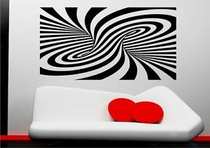 Abstract-Modern-Illusion-Wall-Sticker-Art-Mural-Decal-Transfer-Stencil-Vinyl