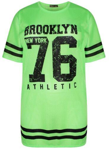 Neuer Frauen-Baseball-Print-Streifen-Air Tech Varsity Baggy T-Shirt Tops 36-54
