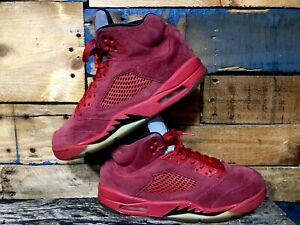 8506b447a62ff1 2017 Nike Air Jordan 5 V Retro Red Suede Size 10. 136027-602.