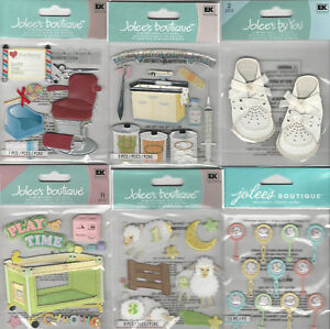 Details about U CHOOSE Assorted Jolee's BABY 3D Stickers playpen shoes  haircut rattle shots