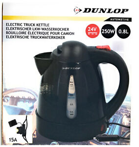 Dunlop-Wasserkocher-24V-250W-Liter-Tee-Camping-LKW-Boot-Maschine-Bus-24-Volt