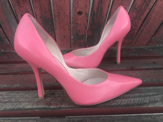 8ad2396bb1d *BubbleguM PiNk EUC 10 LEATHER Pointy Toe Stiletto Heel PUMPS CARRIE GuESS