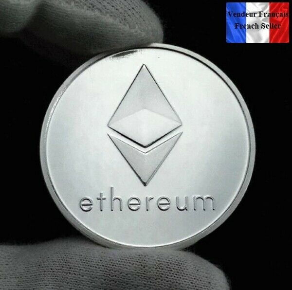 1 Pièce Plaquée Argent ( Silver Plated Coin ) - Ethereum Eth