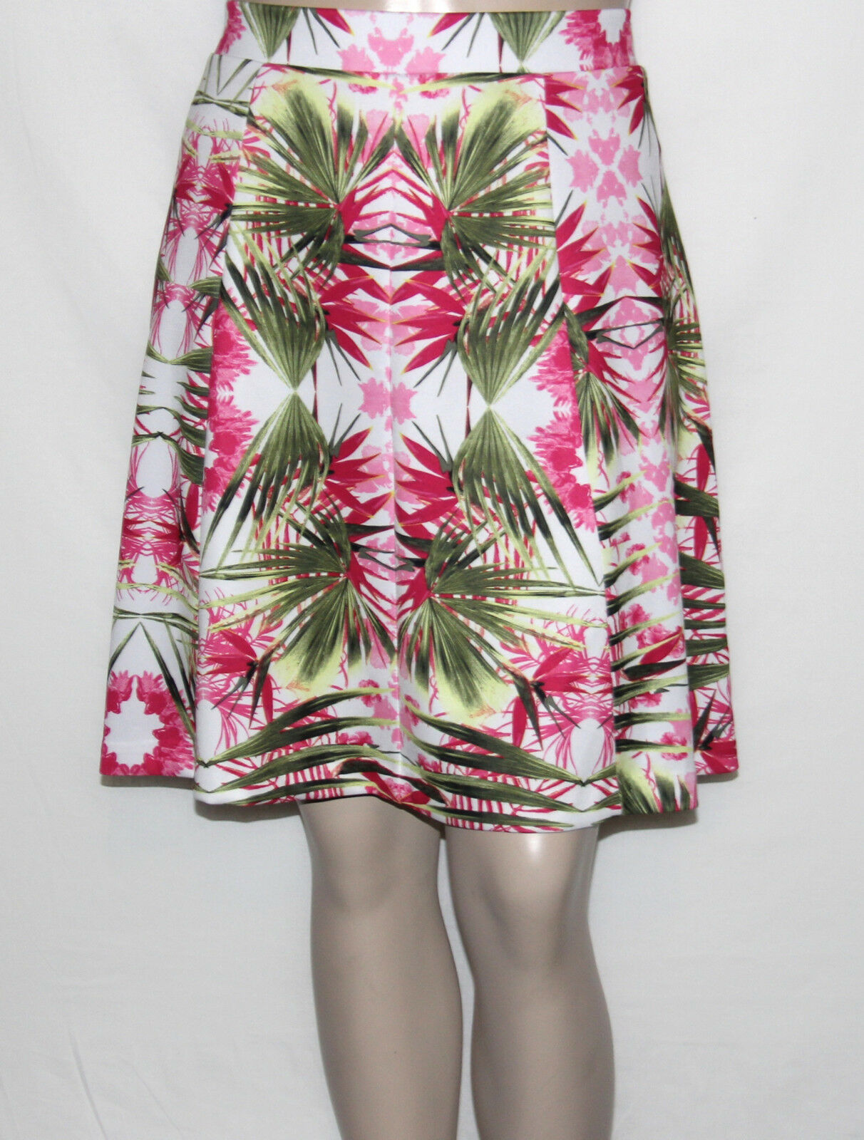 INC International Concepts Plus Size 3X Print Tropical Paradise A-Line Skirt NEW