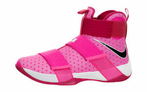 best service 6fc41 f321e Image is loading Nike-Lebron-Soldier-10-X-Think-Pink-Kay-
