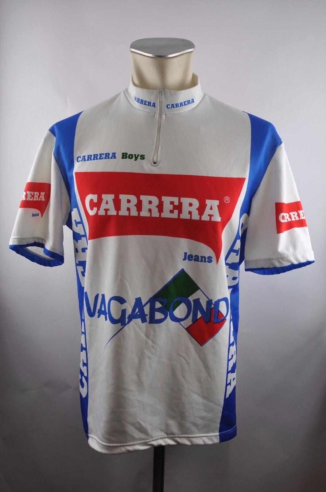 Carrera boys vagabond vintage cycling jersey Bike Rad Trikot Gr. 6 57cm U5