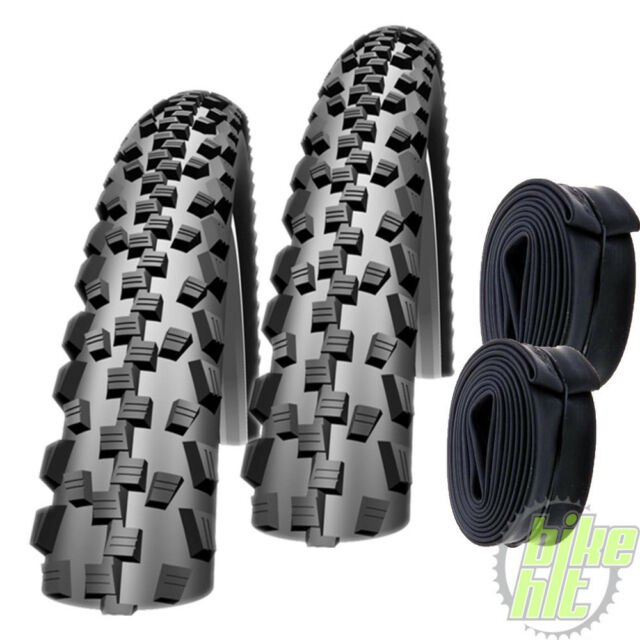 """2x Schwalbe Black Jack Fahrrad Reifen 26"""" 26 x 2,1 54-559 + 2x Schlauch AV 13"""