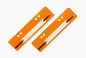 100 Stück Aktendulli Kösterstreifen Heftstreifen kurz 3,5x15 cm DIN A4+A5 orange
