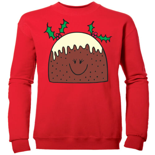 MRS XMAS PUDDING CUTE GIRLS NOVELTY PUD CHILDRENS CHRISTMAS SWEATSHIRT JUMPER