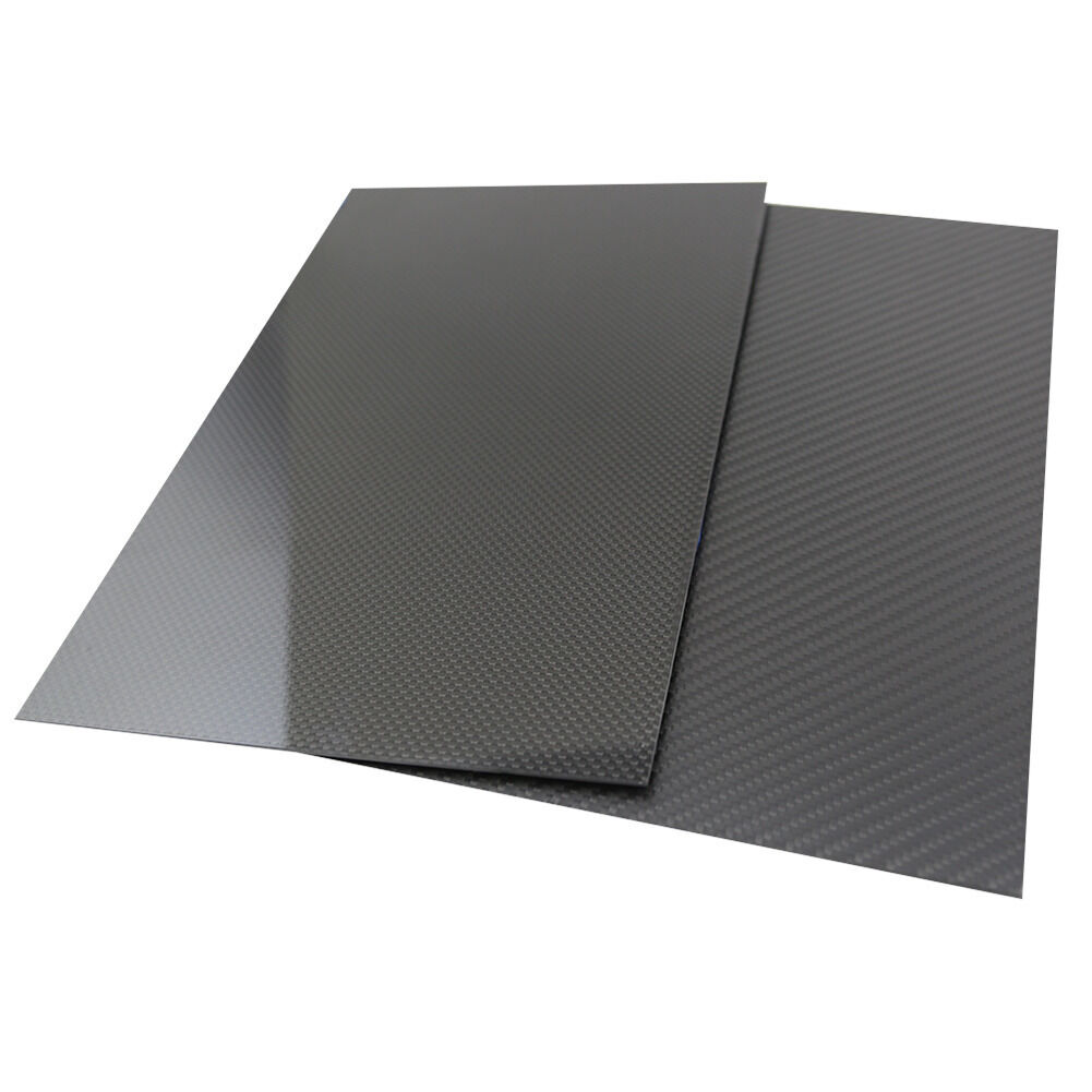 400x500mm placa de fibra de carbono 100% 3K Hoja De Panel superficie mate 2.5mm de espesor