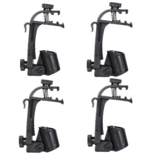 4pcs-Clamp-Clip-On-Drum-Rim-Microphone-Mic-Mount-Holder-Black-Adjustable-Durable
