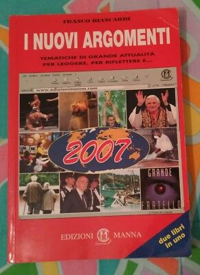I nuovi termini, I NUOVI ARGOMENTI. EDIZIONI MANNA 2007