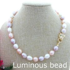FC102610 17'' 10x12mm Multi Color Rice Pearl Necklace
