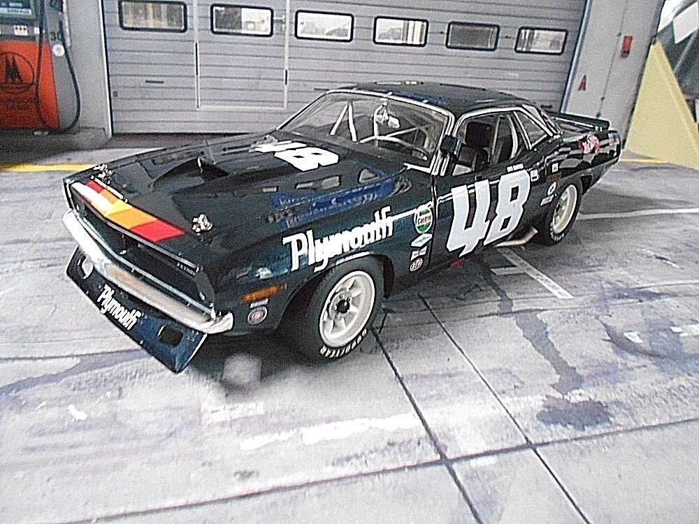 Plymouth Cuda Barracuda trans  am  48 Gurney 1970 Racing American Muscle Acme 1 18  plus abordable