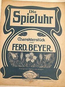 Ferd-Beyer-034-Die-Spieluhr-034-alte-Noten-in-Ubergroesse