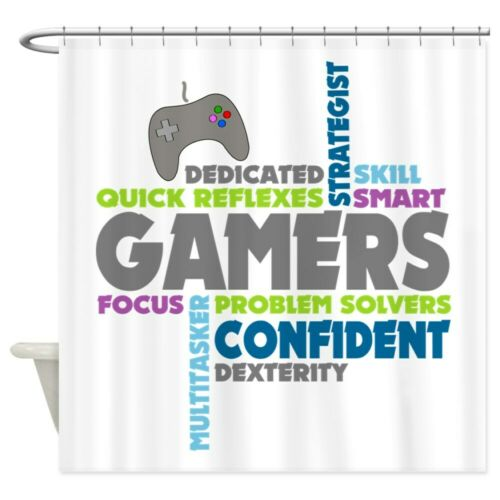"CafePress Gamers Decorative Fabric Shower Curtain 1152093102 69/""x70/"""