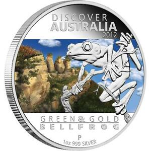 2012-Discover-Australia-Series-Green-and-Gold-Bell-Frog-1oz-Silver-Proof-Coin