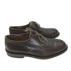 E-T-Wright-600821-Italy-Leather-3-Eye-Dress-Apron-Toe-Oxfords-Men-039-s-US-Sz-10-5