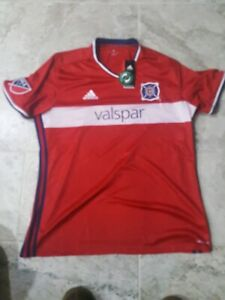 check out 6ac88 58529 Details about NEW WITH TAGS Adidas Climacool Chicago Fire Authentic Jersey  Men's Size XL HTF!!