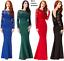 Goddiva-Lace-Open-Back-Bow-Long-Sleeve-Maxi-Evening-Fishtail-Party-Dress-Prom thumbnail 1