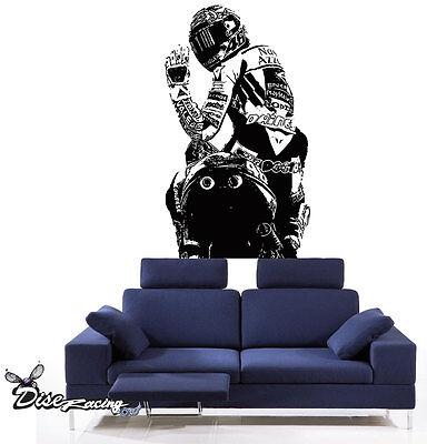 Pegatina vinilo decorativo Valentino Rossi Motogp 46 Motos Racing
