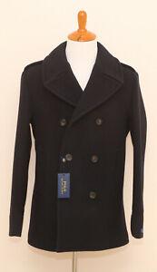 NEW-Polo-Ralph-Lauren-Navy-Wool-Classic-Pea-Coat-Jacket-42R