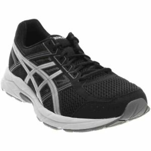 Image is loading ASICS-GEL-Contend-4-Running-Shoes-Black-Mens e15f650555ea