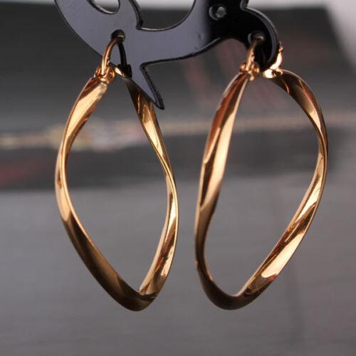 18k Gold Filled Brillant Mariage à la mode Fermeture Pression charme Hoop Earring