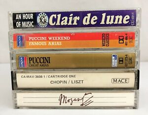 Lot-of-5-Cassette-Tapes-80-039-s-Classical-Modern-Opera