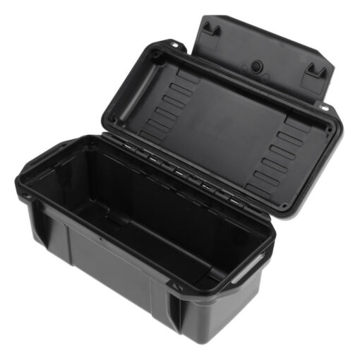 Shockproof Storage Airtight Survival Seal Box Camping Hiking Outdoors Black